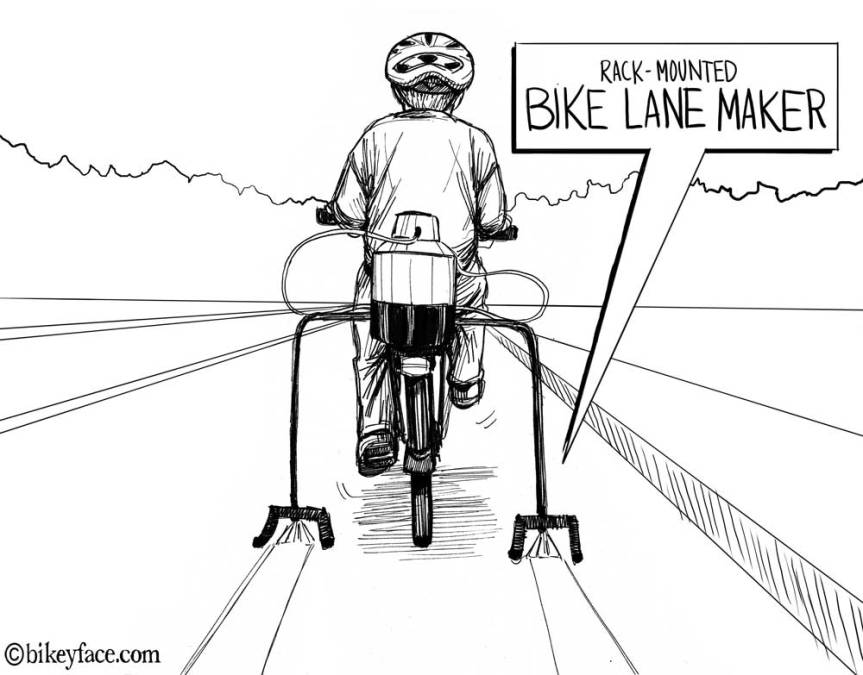 Rack-Mounted Bike Lane Maker