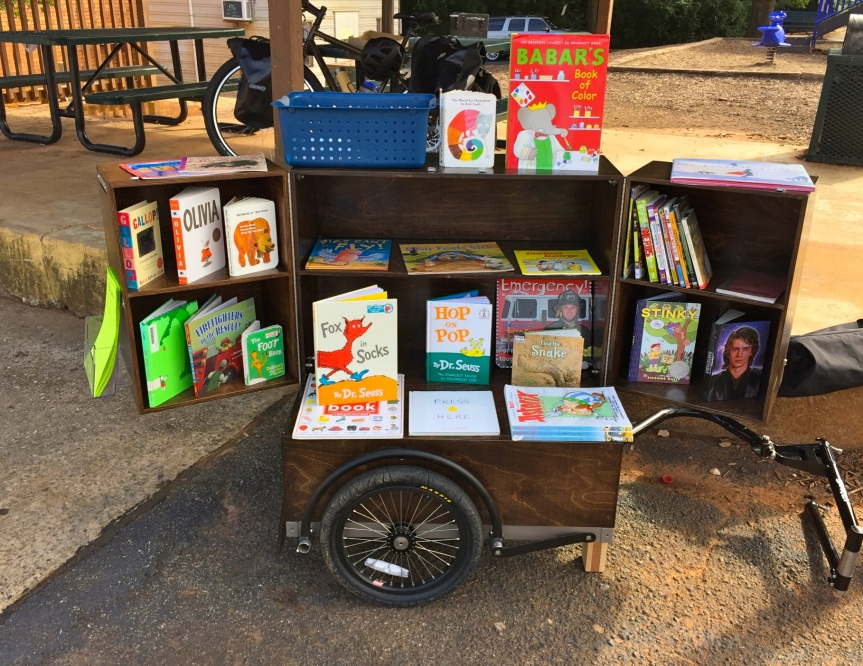 Bibliobike Books on Display