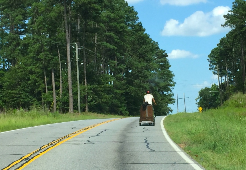 Charging the Hill on Kathwood Drive